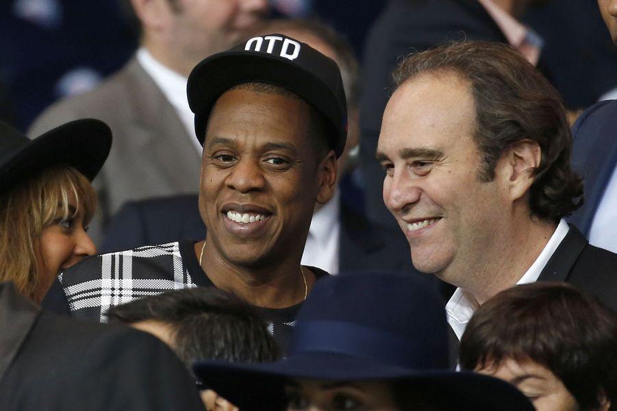 Beyoncé, Jay Z et Xavier Niel au Parc des Princes pour le match PSG-Barcelone