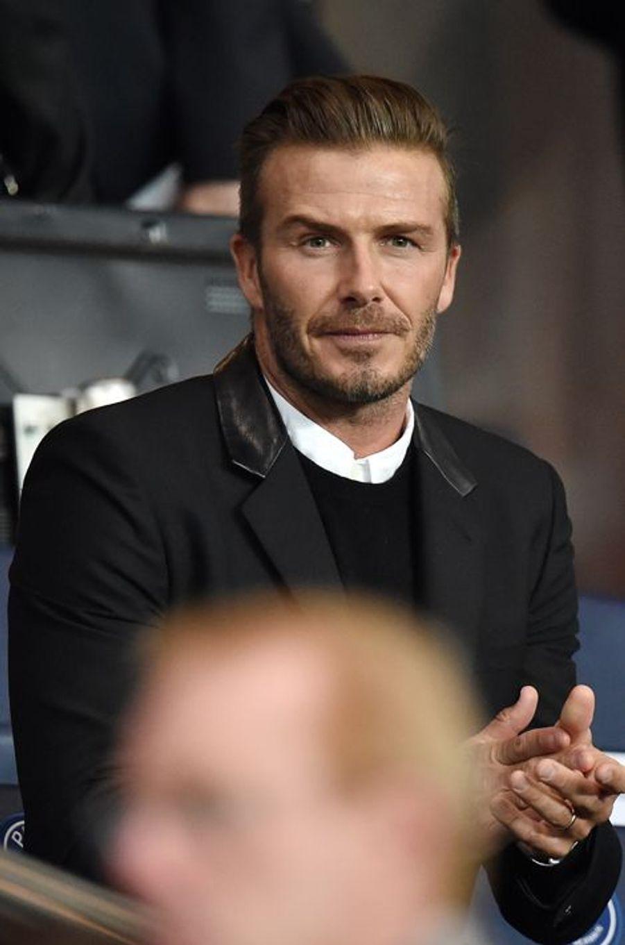 David Beckham au Parc des Princes pour le match PSG-Barcelone