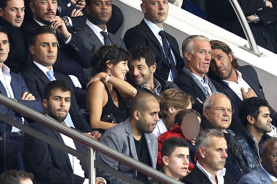 Patrick Bruel au Parc des Princes pour le match PSG-Barcelone
