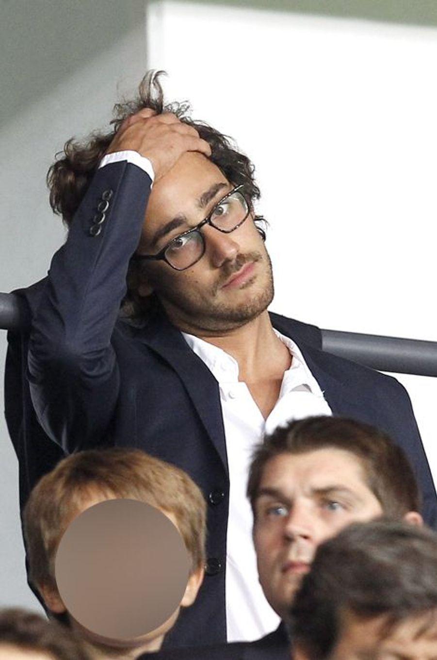 Thomas Hollande au Parc des Princes pour le match PSG-Barcelone
