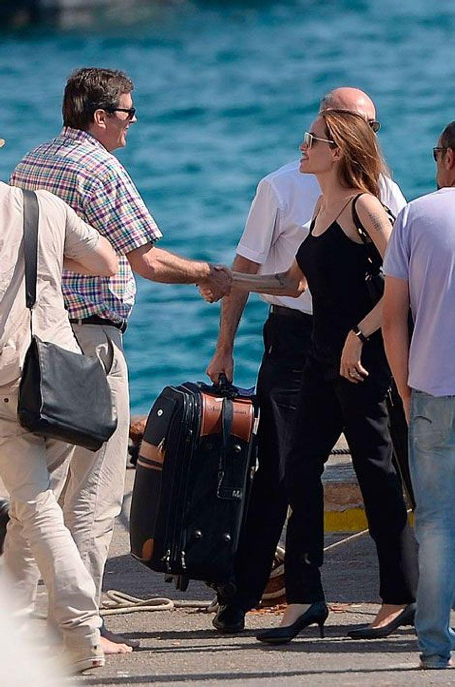 Angelina Jolie à Gozo, le 15 août 2014