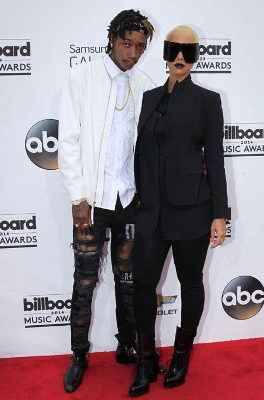 Le rappeur Wiz Khalifa et sa femme Amber Rose