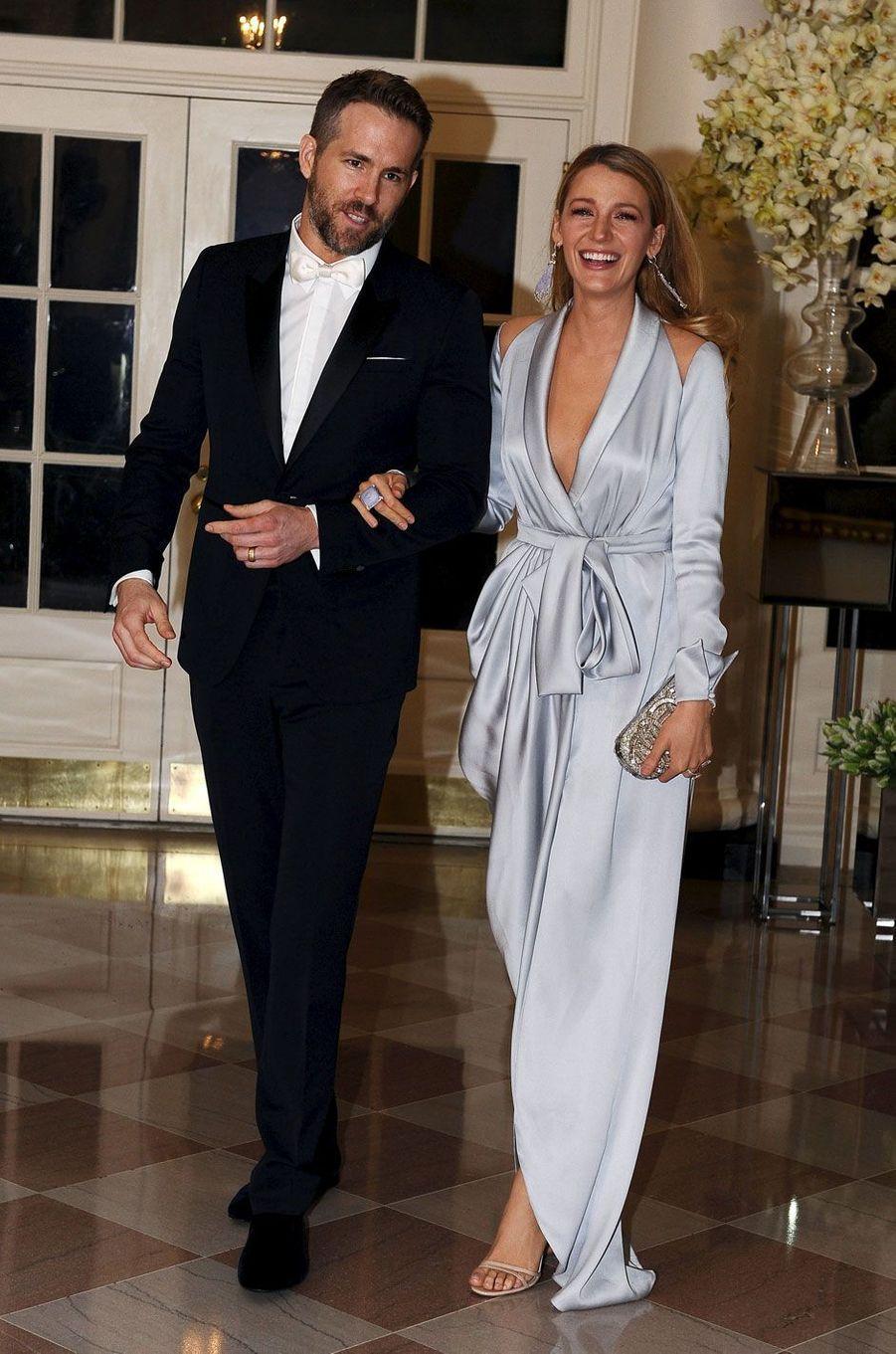 Blake Lively et Ryan Gosling à la maison blanche le 10 mars 2016