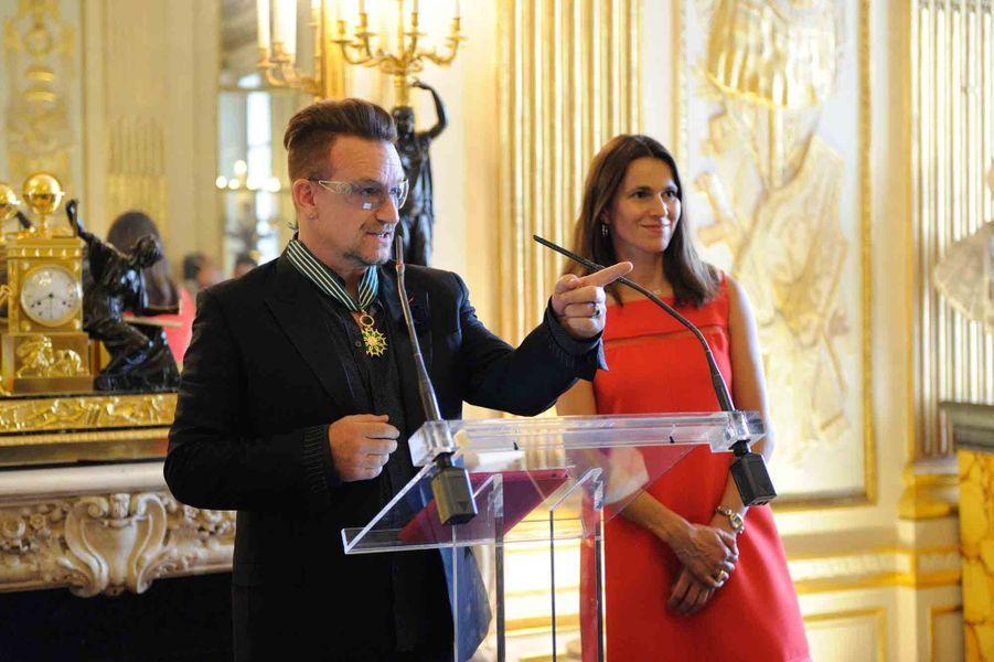 Bono et Aurélie Filippetti