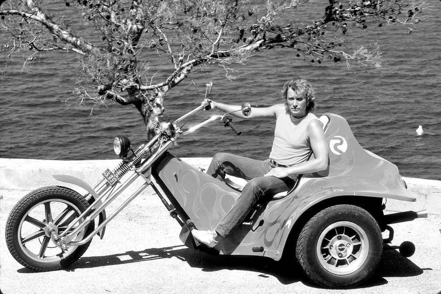 Johnny Hallyday, à Saint-Tropez en août 1981