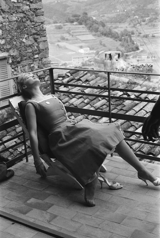 Romy Schneider, au Festival de Cannes en mai 1957