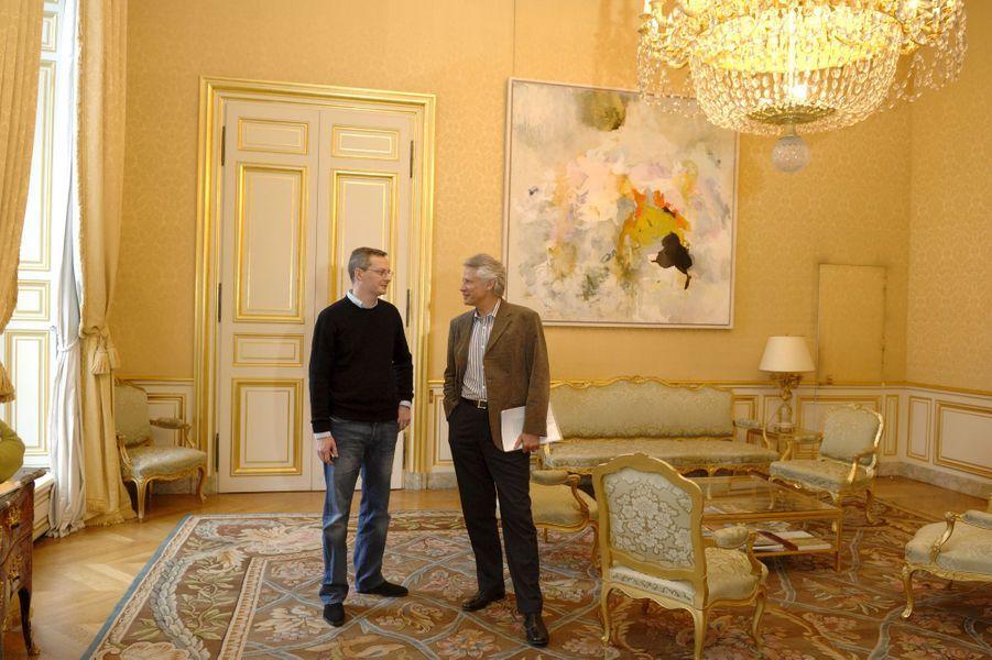 Bruno Le Maire à Matignon, avec Dominique de Villepin en 2007