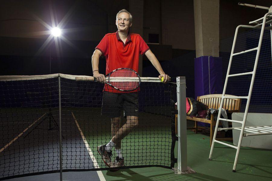 Bruno Le Maire lors de son tennis hebdomadaire, en octobre 2014