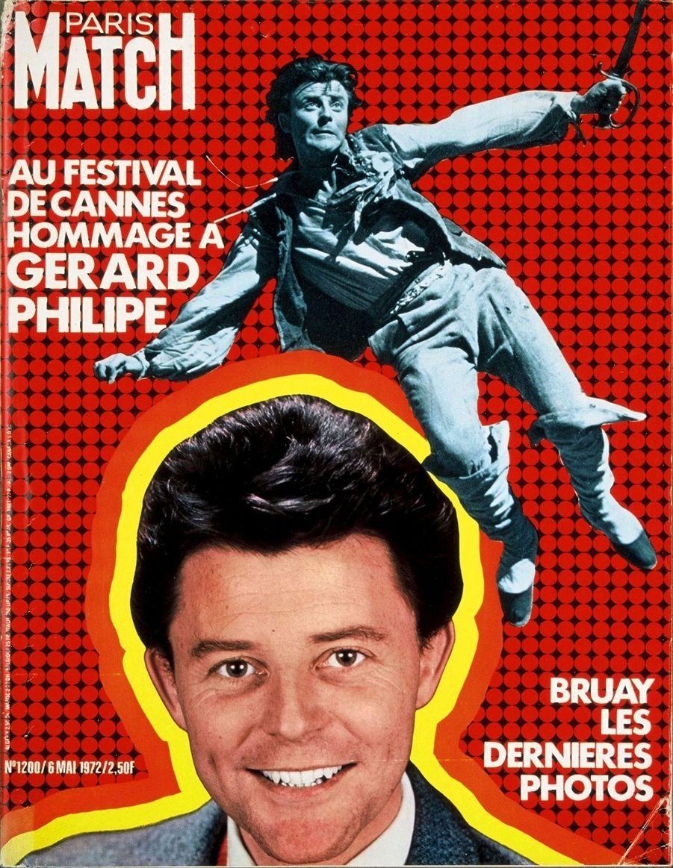 """""""Hommage à Gérard Philipe"""" - Paris Match n°1200, daté du 6 mai 1972"""