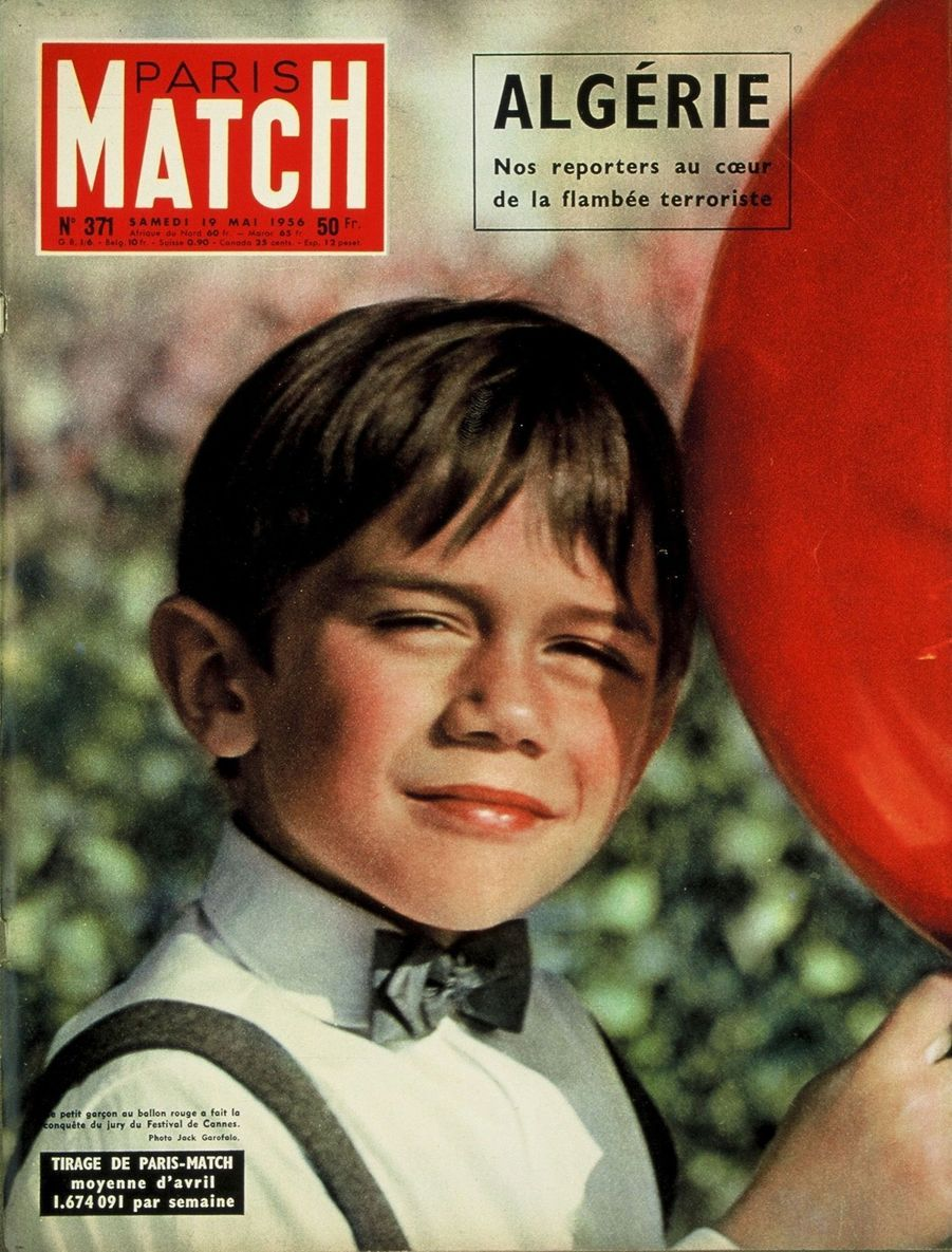 """""""Le petit garçon au ballon rouge (Pascal Lamorisse, ndlr) a fait la conquête du jury du Festival de Cannes."""" - Paris Match n°371, daté du 19 mai 1956"""