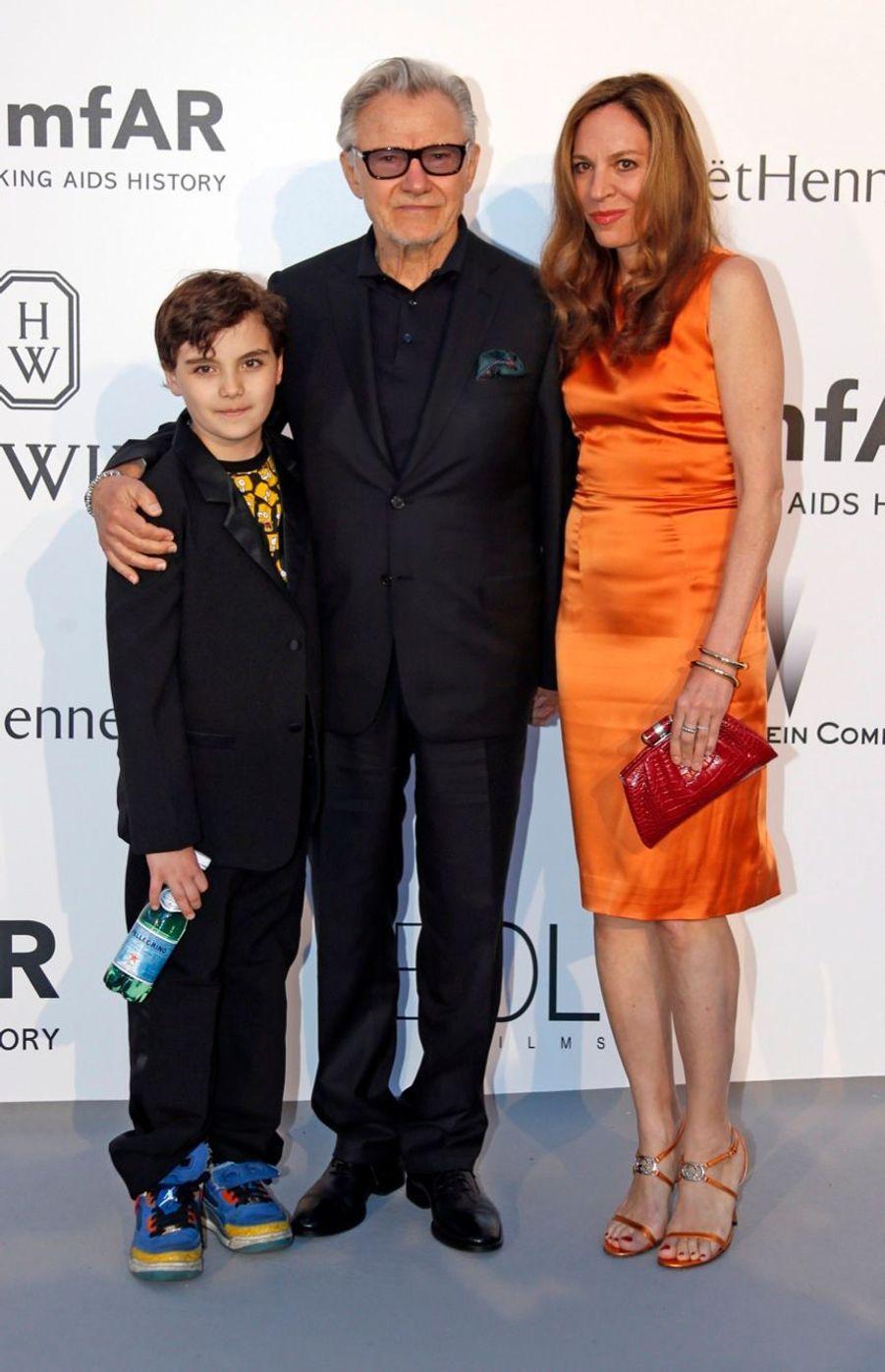 Harvey Keitel, son épouse Daphna Kastner et leur fils Roman