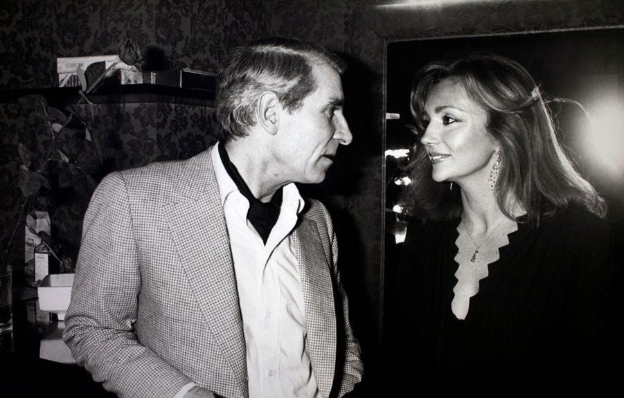 Jean Poiret et Caroline Cellier en février 1980.