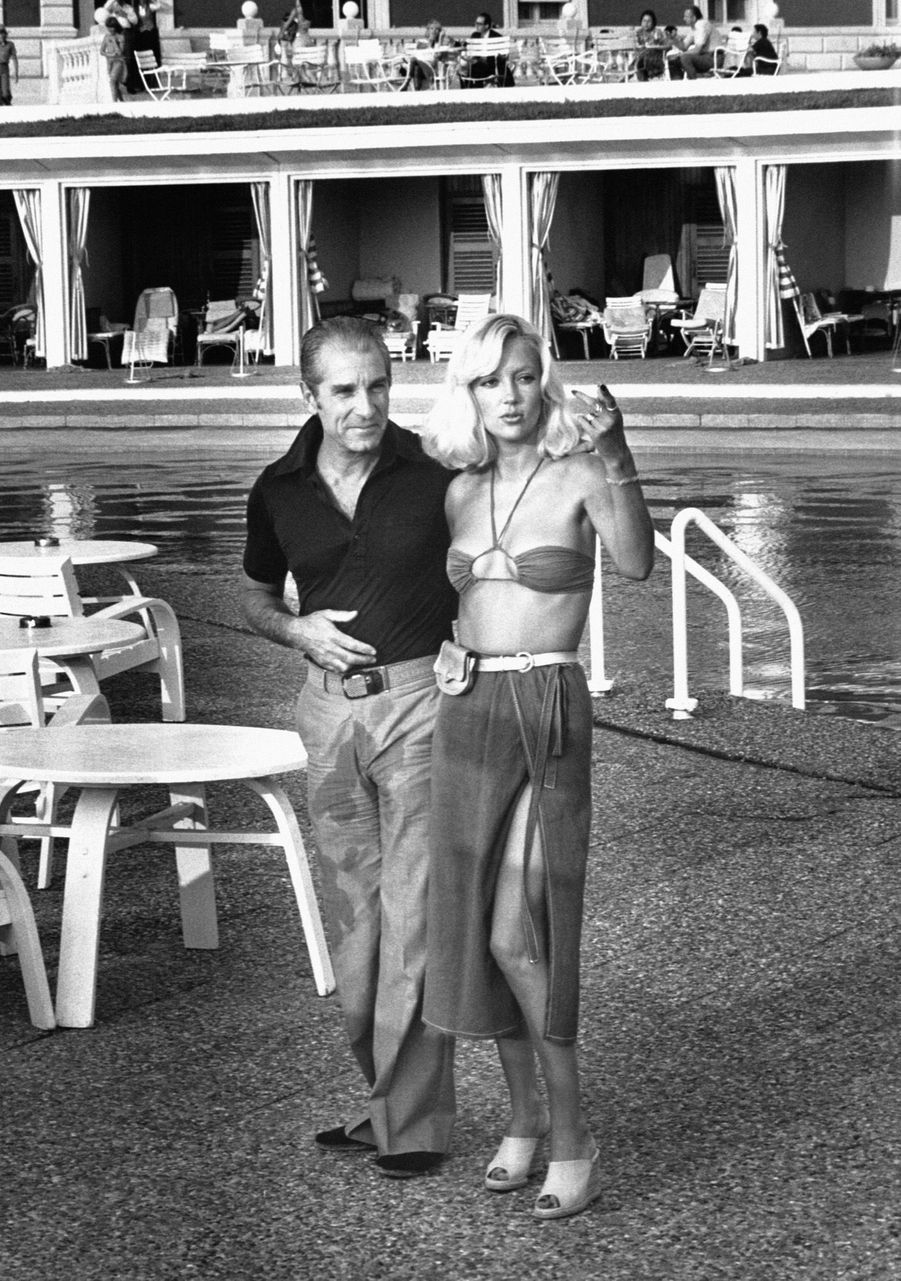 Jean Poiret et Caroline Cellier en août 1976.