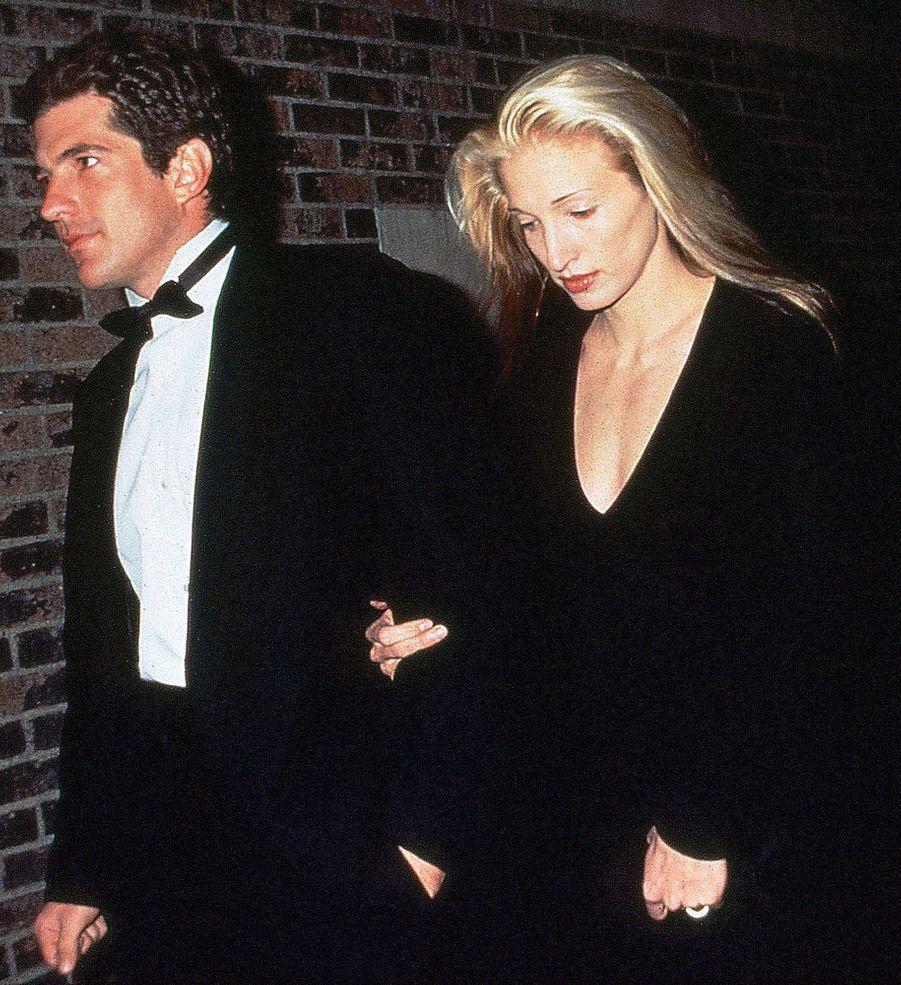 Carolyn Bessette Kennedy et John John, en janvier 1994.