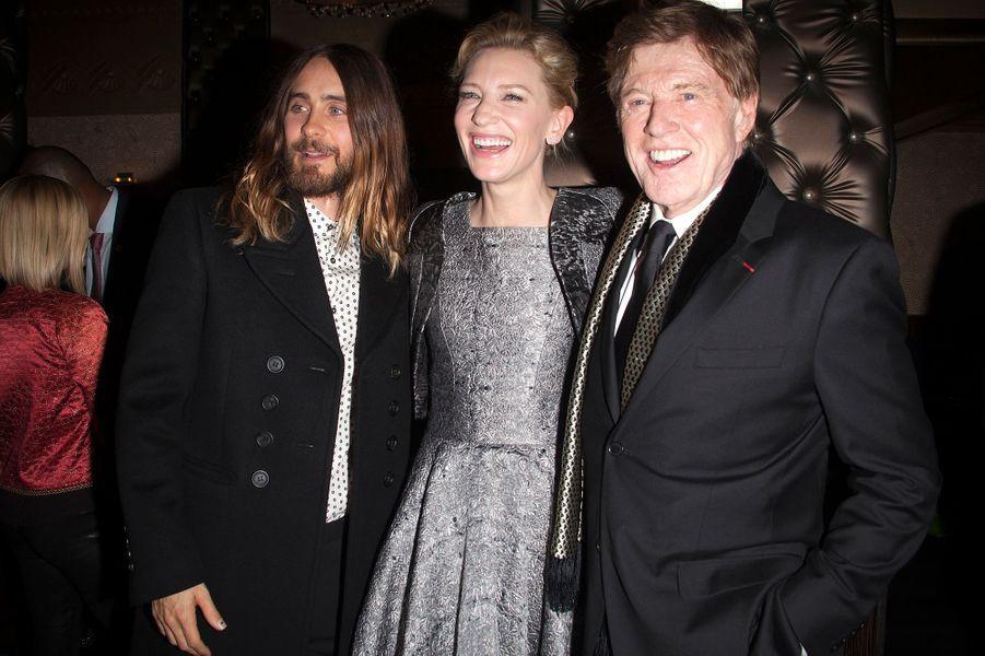 Jared Leto, Cate Blanchett et Robert Redford