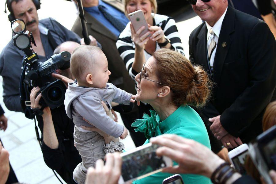 Céline Dion et son plus jeune admirateur