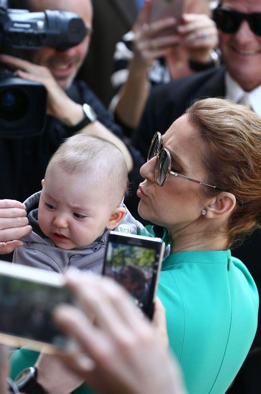 Céline Dion et son plus jeune fan