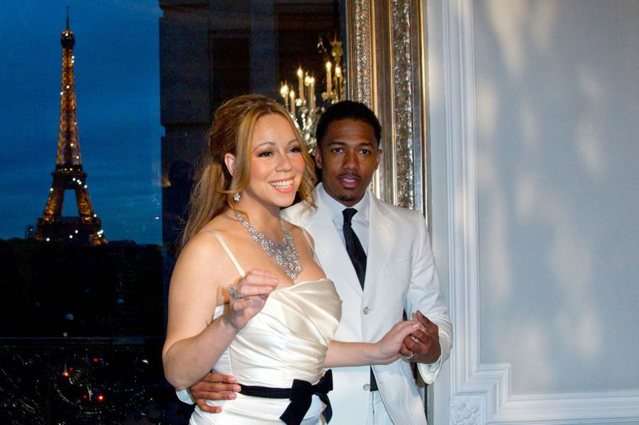 Mariah Carey et Nick Cannon, Paris, 27 avril 2012