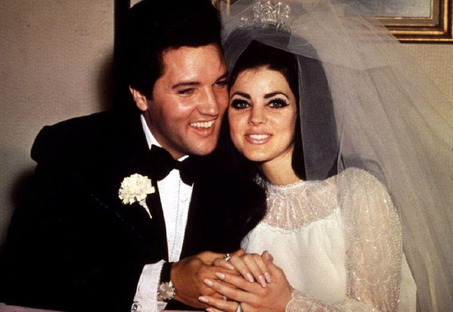 Priscilla Presley lors de son mariage avec le King en 1967