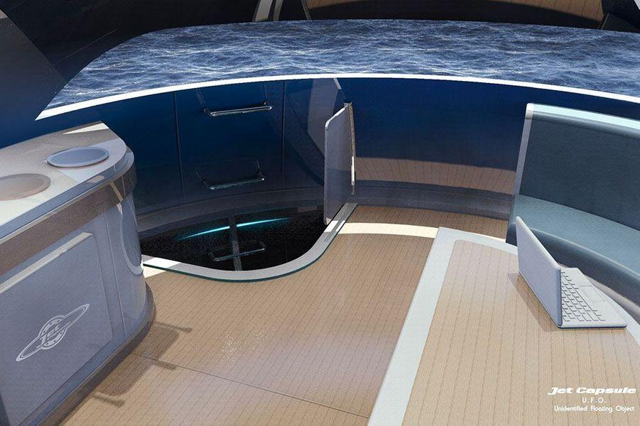L'étage à la surface comprend une cuisine et un salon