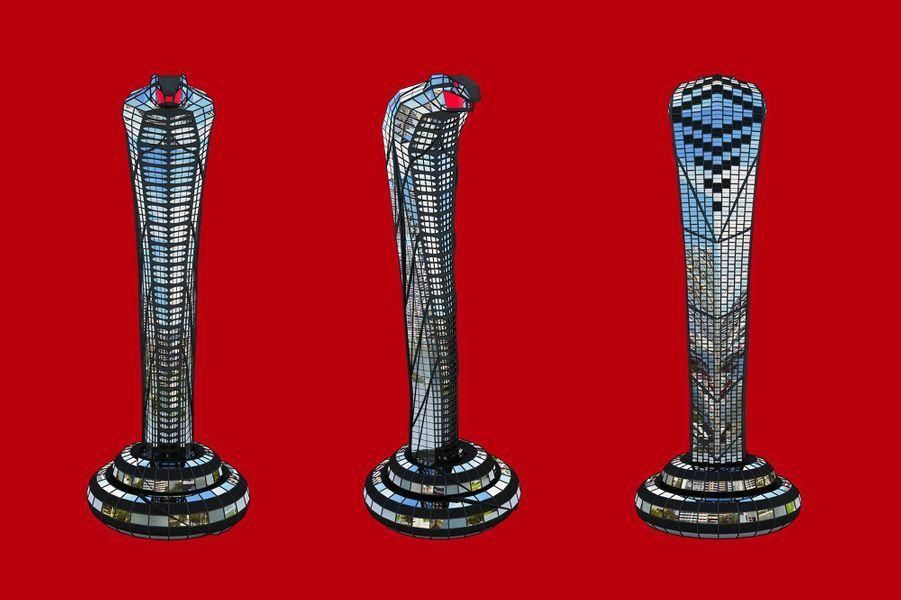 La tour Cobra, dessinée par le Russe Vasily Klyukin