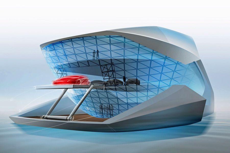 CF8, le yacht de luxe