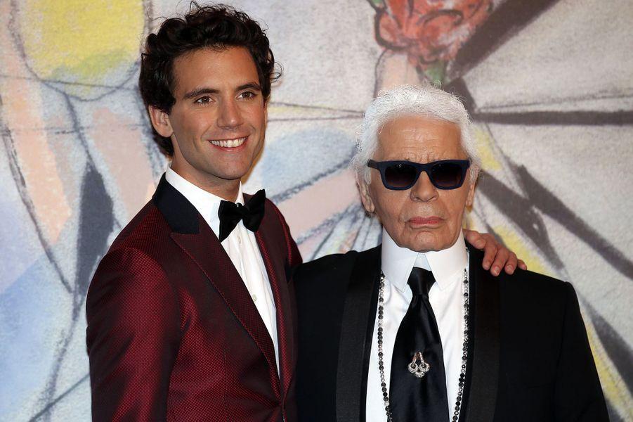 Mika et Karl Lagerfeld