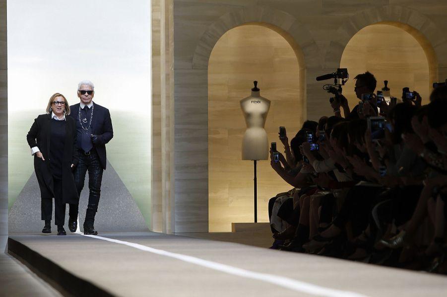 Silvia Venturini Fendi et Karl Lagerfeld