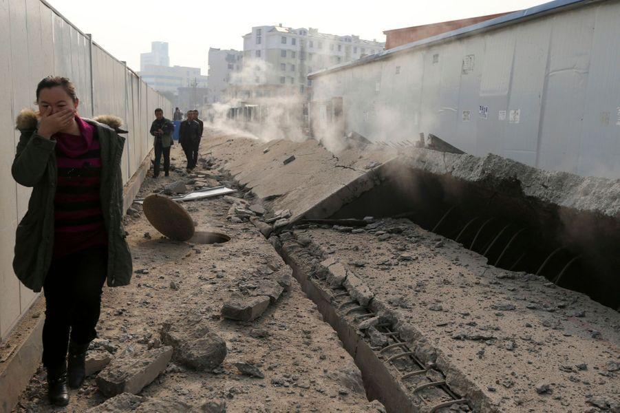 Qingdao ravagée par l'explosion d'un pipeline