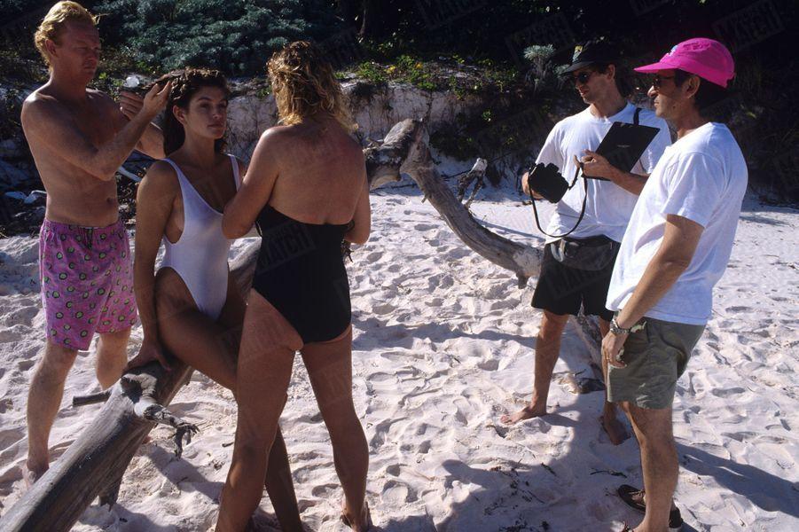Cindy Crawford, décembre 1989.