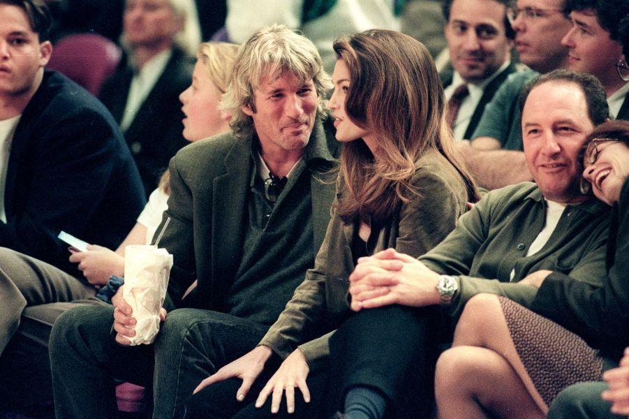 Cindy Crawford et Richard Gere au Madison Square Garden à New York le 11 avril 1994