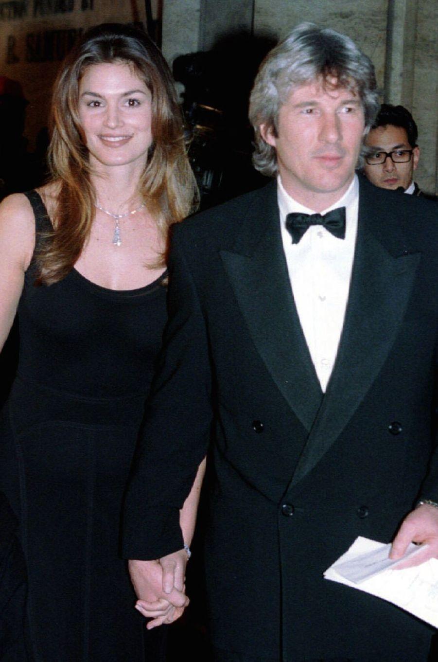 Cindy Crawford et Richard Gere le 7 février 1994