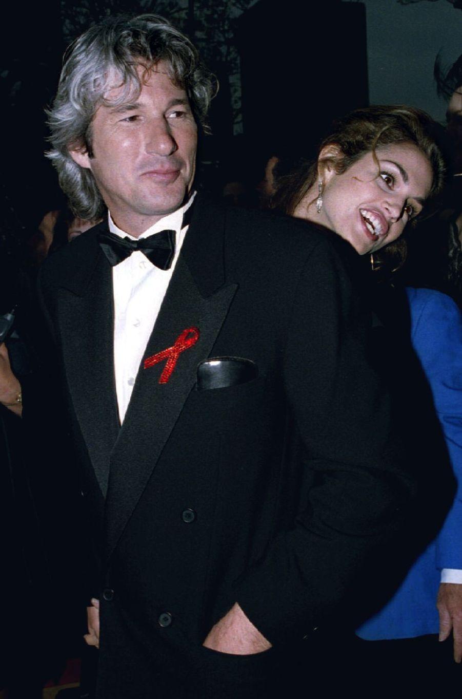 Richard Gere et Cindy Crawford à la 65ième cérémonie des Oscars à Los Angeles le 29 mars 1993