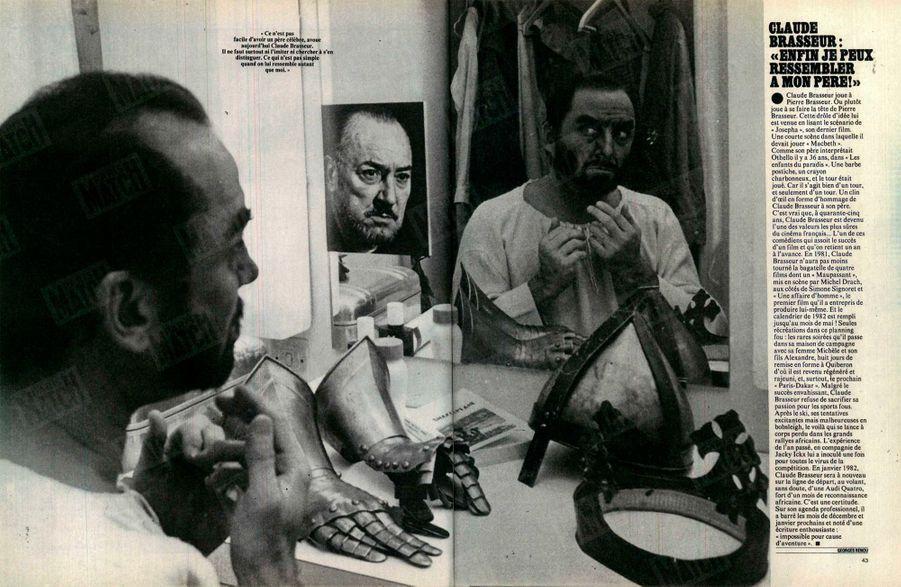 « Ce n'est pas facile d'avoir un père célèbre, avoue aujourd'hui Claude Brasseur. Il ne faut surtout ni l'imiter ni chercher à s'en distinguer. Ce qui n'est pas simple quand on lui ressemble autant que moi. » - Paris Match n°1686, 18 septembre 1981.