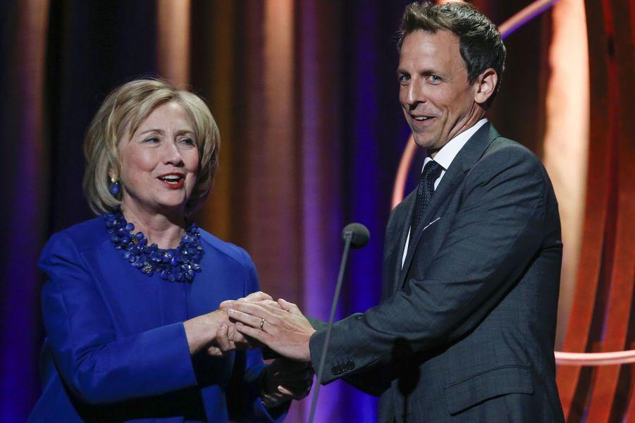 Hillary Clinton et Seth Meyers