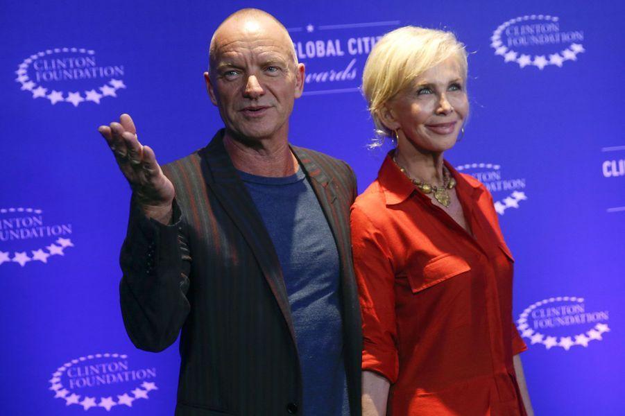 Sting et sa femme Trudie Styler