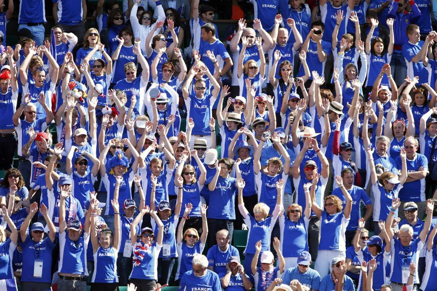 Les supporters français à Roland Garros