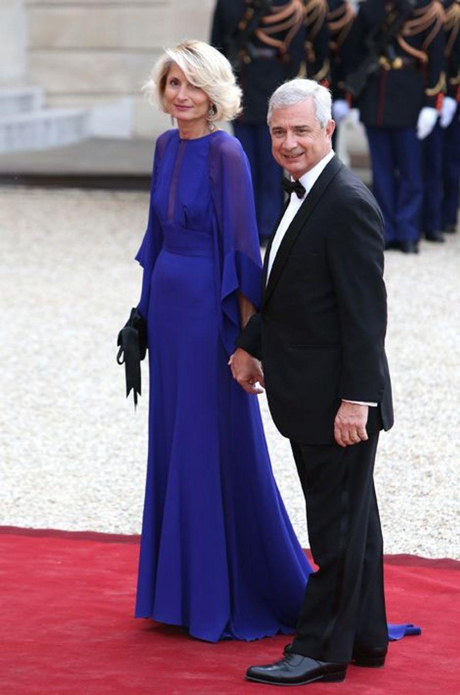Claude Bartolone et son épouse