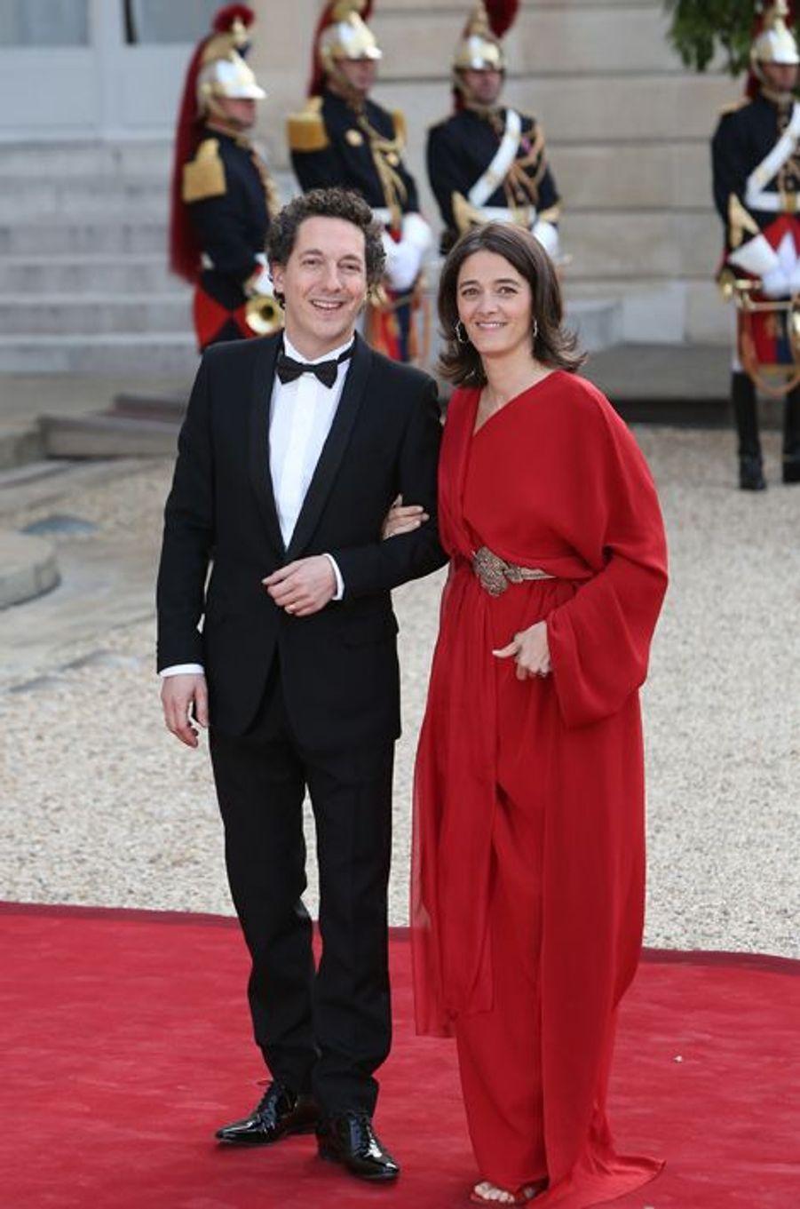 Guillaume Gallienne et son épouse Amandine
