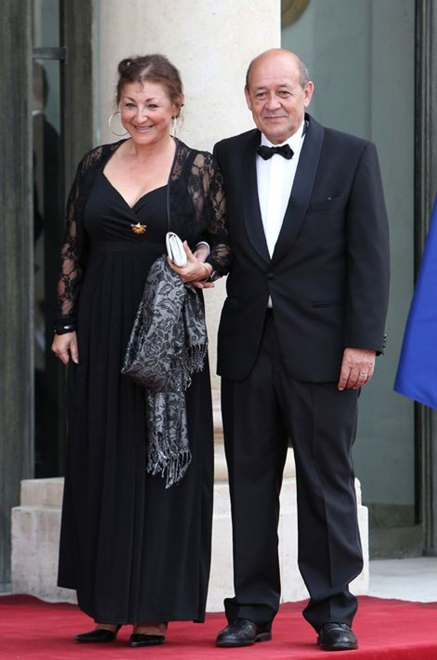 Jean-Yves Le Drian et son épouse