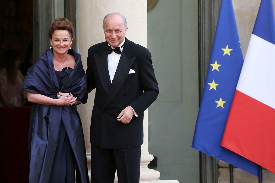 Laurent Fabius et son épouse