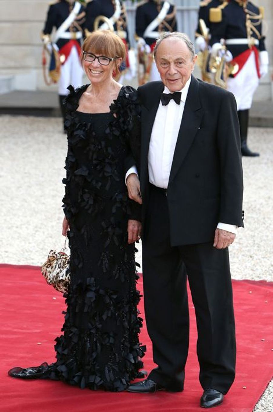 Michel Rocard et son épouse