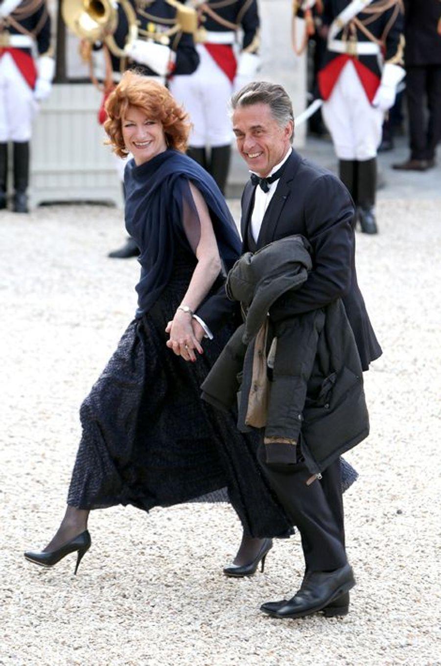 Muriel Mayette et Gérard Holtz