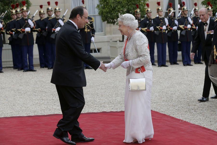 Dîner d'Etat à l'Elysée pour la reine Elizabeth