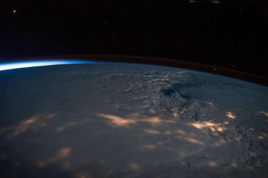 Tempête au-dessus de la côte est des Etats-Unis