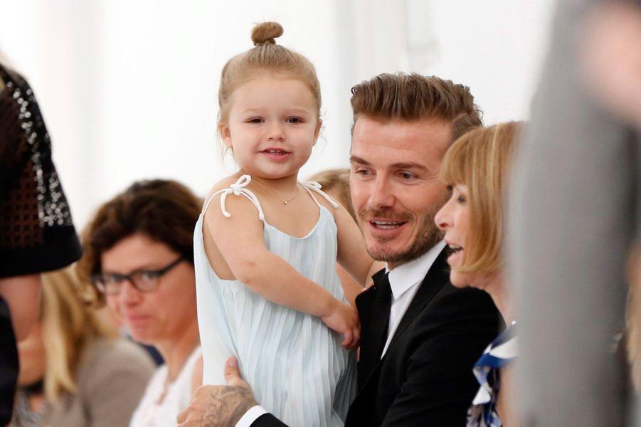 David Beckham et sa fille Harper en 2013