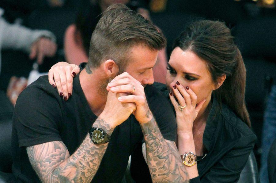 David et Victoria Beckham en 2012