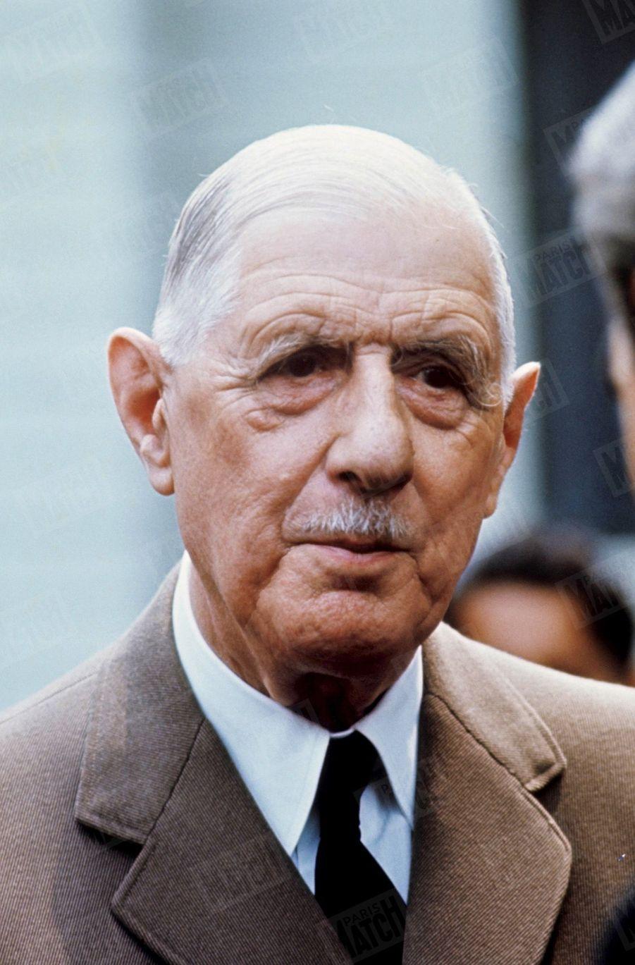 Le Président Charles de Gaulle lors de sa visite officielle de l'exposition universelle au Canada. 1967.