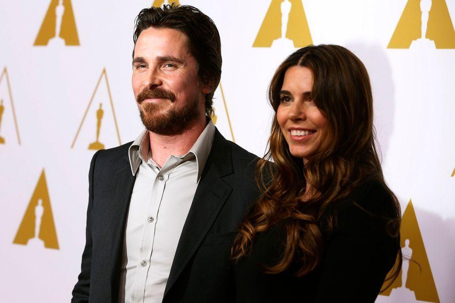 """Christian Bale et sa femme Sibi (catégorie meilleur acteur pour """"American Bluff"""")"""