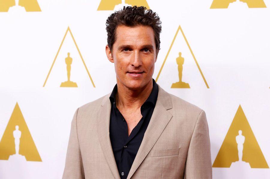 """Matthew McConaughey (catégorie meilleur acteur pour """"Dallas Buyers Club"""")"""